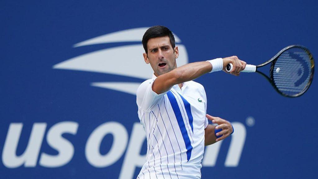 """Djokovic levando sua """"desqualificação do US Open"""" com força. 1"""