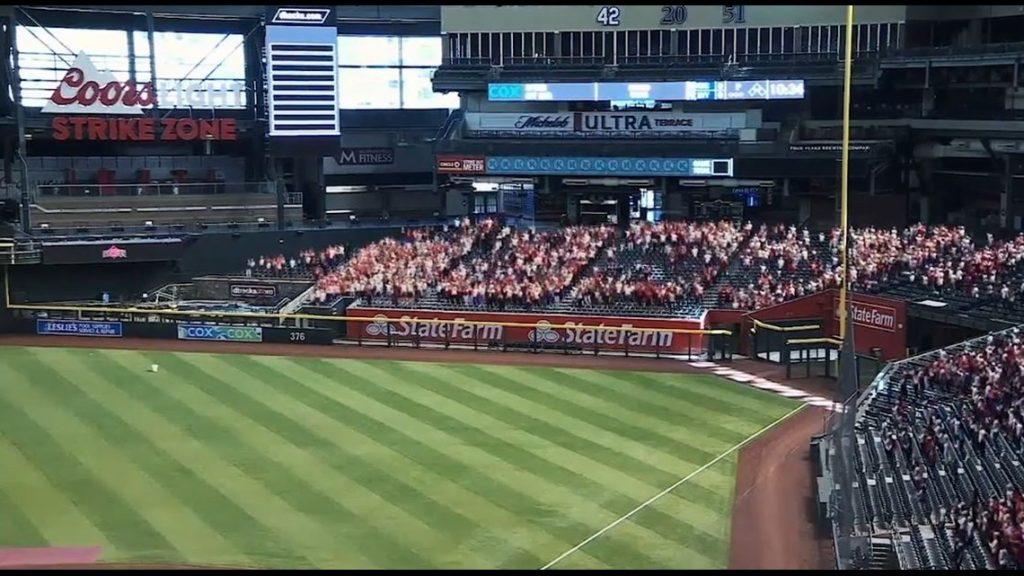 A MLB agora terá fãs ao vivo nos eventos. 1